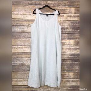 Eileen fisher XL Irish linen French knot hem dress